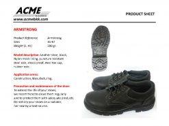 รองเท้าเซฟตี้ รองเท้า safety รองเท้าหัวเหล็ก รองเท้านิรภัย อาร์มสตรอง