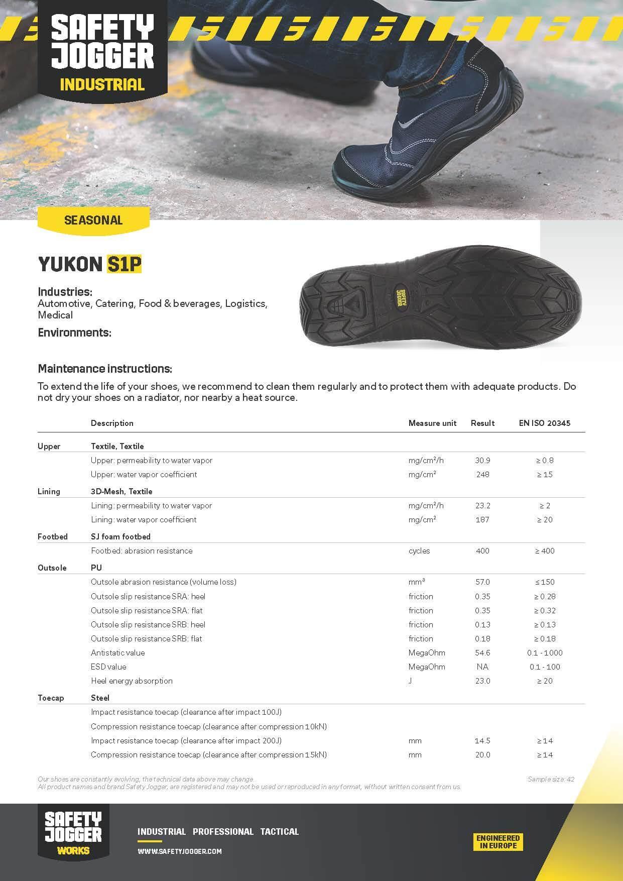 รองเท้า Safety Jogger Yukon