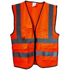 เสื้อจราจรสีส้ม ซิปกลาง