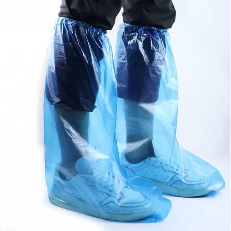 ถุงคลุมเท้าพลาสติก สูงถึงเข่า
